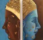 Acryl, insgesamt 100 cm x 100 cm